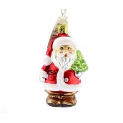 Addobbo Babbo Natale 10 cm Inge-Glas