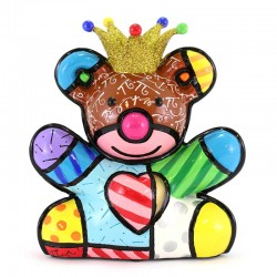 Figura Re Orso 14 cm Romero Britto 334531