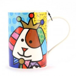 Boccale Re Cane in ceramica 11 cm Romero Britto 334526