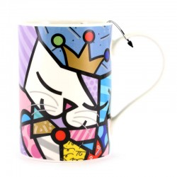 Boccale Re Gatto in ceramica 11 cm Romero Britto 334527