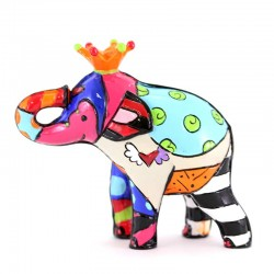 Re Elefante mini in resina 6 cm Romero Britto 334447