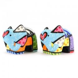 Sale e Pepe Elefante in ceramica 7 cm Romero Britto 334492
