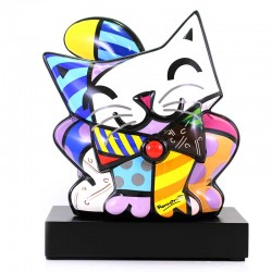 Figura Blue Cat 27x31 cm Romero Britto GOEBEL