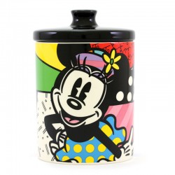 Biscottiera di Minnie in ceramica 18,5 cm Romero Britto 6004976