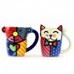 Coppia Tazze in ceramica 11,5 cm Romero Britto 334493