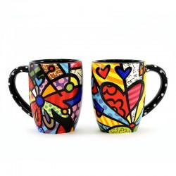 Coppia 2 tazze in ceramica 11 cm Romero Britto 339047