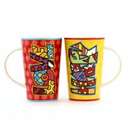 Coppia Tazze in ceramica 12,5 cm Romero Britto 334503