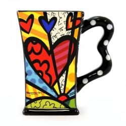 Boccale Cuore in ceramica 13 cm Romero Britto 3303012