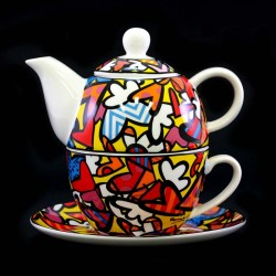 Tea cup All We Need is Love 15 cm Romero Britto GOEBEL