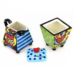 Ceramic sugar bowl and milk jug Romero Britto 330306