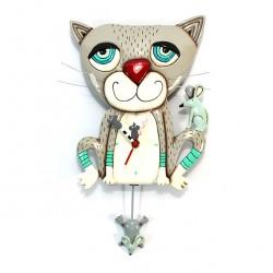 Cat and Mouse Clock 32x22 cm Allen Designs