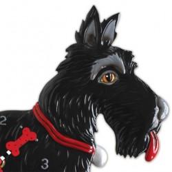 Scotty dog clock 30x28 cm Allen Designs