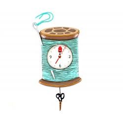 Orologio Rocchetta da cucito e forbici 20x30 cm Allen Designs