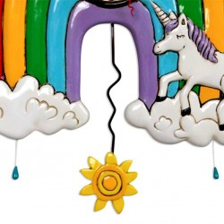 Rainbow and Unicorn Clock 33x26 cm Allen Designs