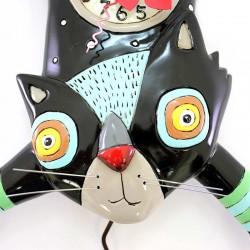 Black Cat Clock 25x34 cm Allen Designs