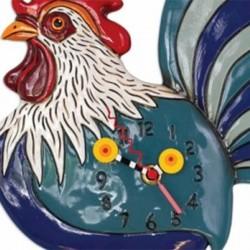 Rooster Clock 35x30 cm Allen Designs