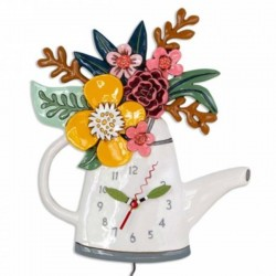 Watering Can and Flower Clock 28x30 cm Allen Designs