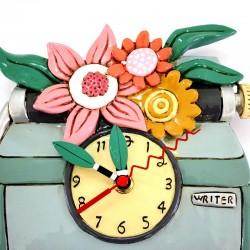 Typewriter clock 20x25 cm Allen Designs