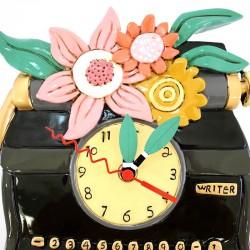 Black Typewriter Clock 20x25 cm Allen Designs