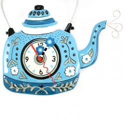 Blue Boiler Clock 27x26 cm Allen Designs