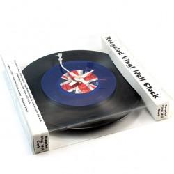 Clock Union Jack Vinyl diameter 30 cm