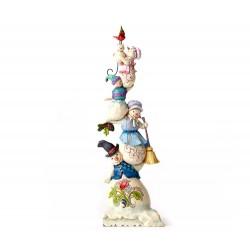 Totem famiglia pupazzi di neve 32 cm Jim Shore 4053716