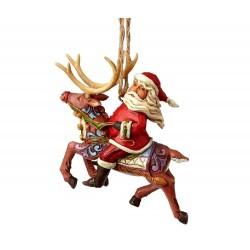 Babbo Natale su renna 8 cm Jim Shore 4058816