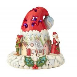 Cappello di Babbo Natale illuminato 17,9 cm Jim Shore 4060107