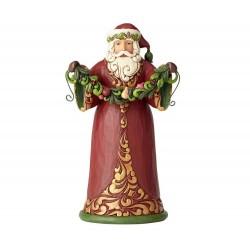 Babbo Natale rosso e verde 24 cm Jim Shore 6001053