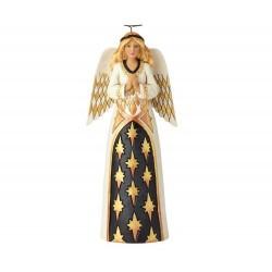 Angelo in preghiera nero e oro 26 cm Jim Shore 6001436