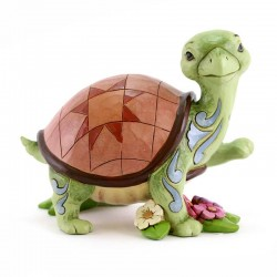 Tartaruga con fiori 11 cm Jim Shore 4037672