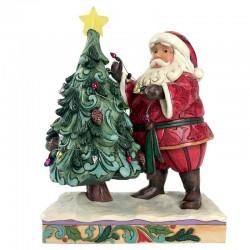 Babbo Natale decora albero con luce 22 cm Jim Shore 4059756