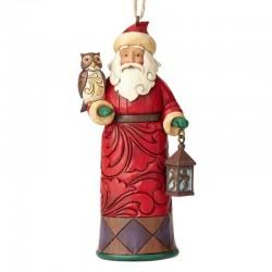 Babbo Natale con gufo e lanterna 11 cm Jim Shore 4059766