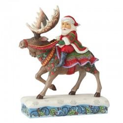 Babbo Natale su renna 23,5 cm Jim Shore 6004133