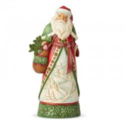 Babbo Natale con sacca pungitopo 26 cm Jim Shore 6004134
