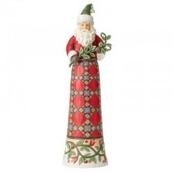 Babbo Natale con ramoscello di pungitopo 39 cm Jim Shore 6004136