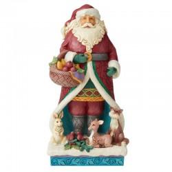 Babbo Natale con animali 31,5 cm Jim Shore 6004189