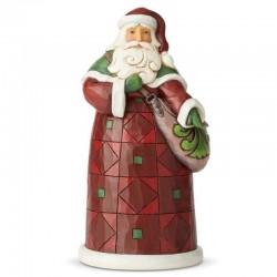Babbo Natale con sacca 20 cm Jim Shore 6004139