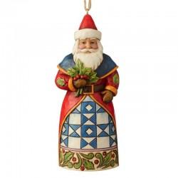 Babbo Natale con agrifoglio 12 cm Jim Shore 6004306
