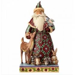 Babbo Natale con animali del bosco 27 cm Jim Shore 4060146