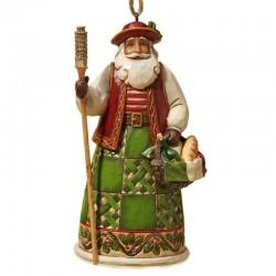 Babbo Natale Italiano da appendere 12 cm Jim Shore 4022944