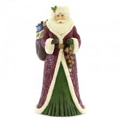 Babbo Natale con sacca e campane 52 cm Jim Shore 6004178