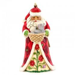 Babbo Natale con gatto da appendere 12 cm Jim Shore 6003357