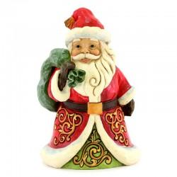 Babbo Natale con sacca 13 cm Jim Shore 6004291