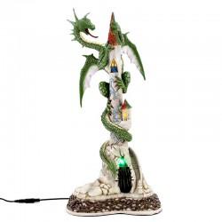Torre illuminata con drago 47 cm Jim Shore A29969