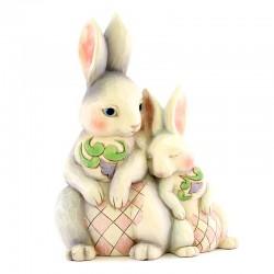 Coppia di conigli 22 cm Jim Shore 6003624
