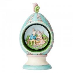 Uovo con conigli girevoli 22 cm Jim Shore 6003625