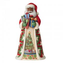 Babbo Natale Africano con doni 25 cm Jim Shore 6006673