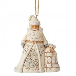 Babbo Natale bianco con sacca 11,5 cm Jim Shore 6006586