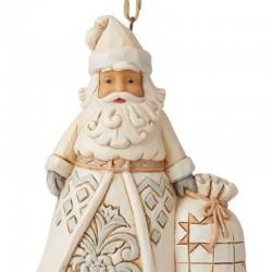 White Santa Claus with bag 11,5 cm Jim Shore 6006586